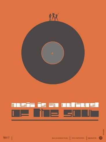 Music is the Soul Poster Plastikschild