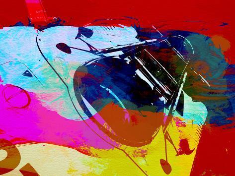 Porsche Watercolor Plastikschild