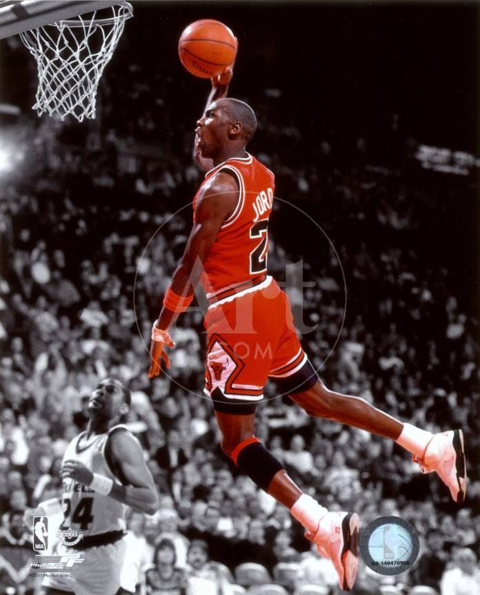 NBA Michael Jordan 1990 Spotlight Action Foto bei AllPosters.de