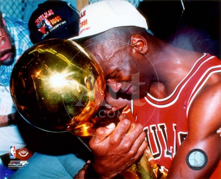 NBA Michael Jordan Game 5 of the 1991 NBA Finals with Championship ...