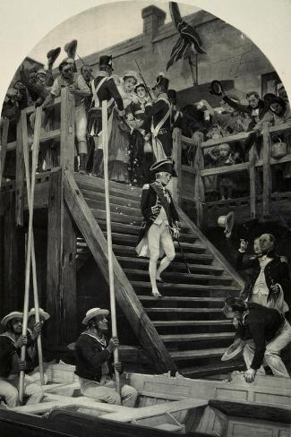 Nelson Boarding Victory for Last Time, 1805, Napoleonic Wars, England Giclée-Druck