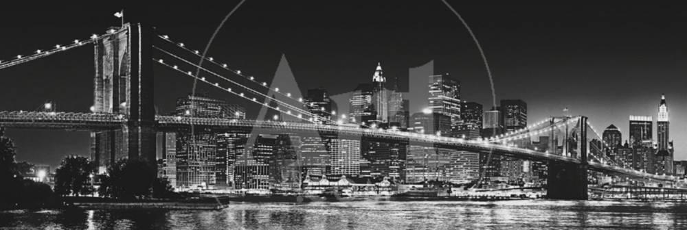 New York - Brooklyn Bridge – schwarzweiß Foto bei AllPosters.de