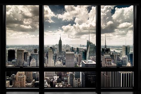 New York Fenster Poster