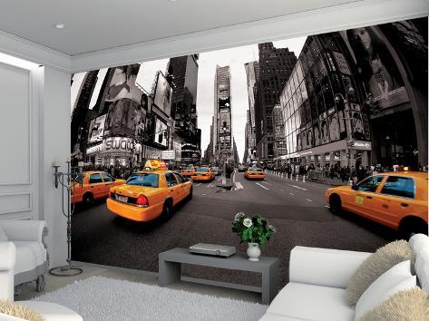 new york taxi schwarz weiss fototapete wandgem lde bei. Black Bedroom Furniture Sets. Home Design Ideas