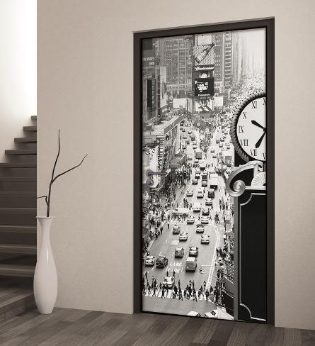 new york times square schwarz weiss t rposter fototapete. Black Bedroom Furniture Sets. Home Design Ideas