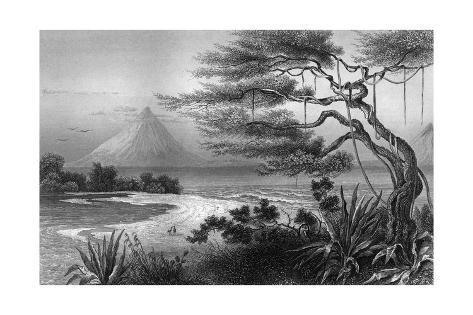 Nicaragua River Scene Giclée-Druck