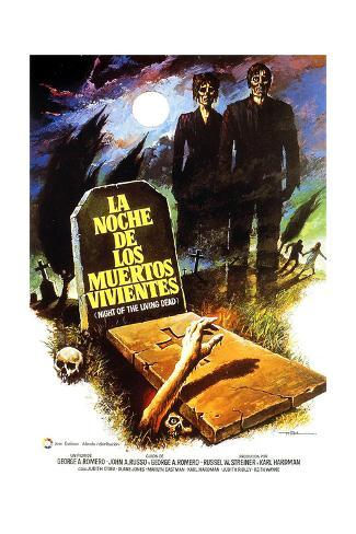 Night of the Living Dead, (aka La Noche De Los Muertos Vivientes), Spanish Poster Art, 1968 Giclée-Druck
