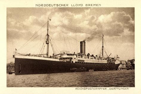 Norddeutscher Lloyd Bremen, Dampfer Derfflinger Giclée-Druck