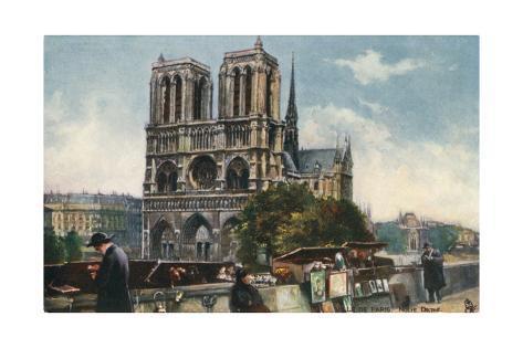 Notre Dame Cathedral - Paris Giclée-Druck
