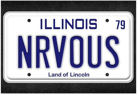 NRVOUS License Plate Movie Poster Poster