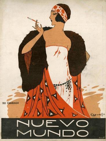 Nuevo Mundo, Magazine Cover, Spain, 1923 Giclée-Druck