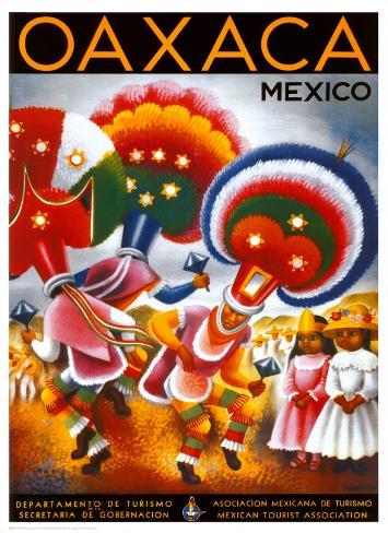 Oaxaca, Mexico Kunstdruck