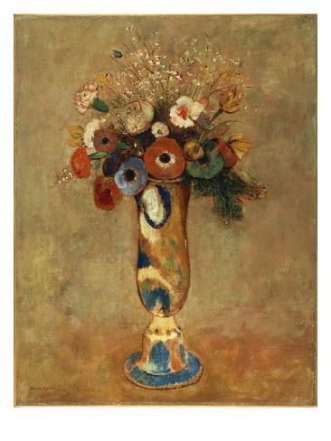 Vase Of Flowers 1912 Gicléedruk Van Odilon Redon Bij Allpostersnl