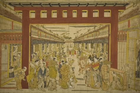 Nakanocho in the Yoshiwara Giclée-Druck