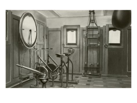 Old Work Out Gym Kunstdruck