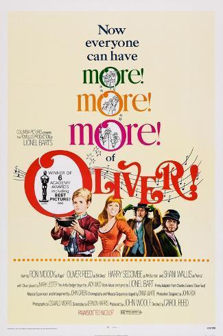 Oliver!, Mark Lester, Shani Wallis, Ron Moody, Oliver Reed, 1968 Kunstdruck