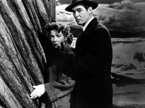 On Dangerous Ground, Ida Lupino, Robert Ryan, 1952 Foto