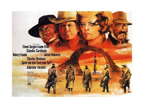 Once Upon a Time in the West, (AKA C'Era Una Volta Il West, Aka Spiel Mir Das Lied Vom Tod), 1968 Giclée-Druck