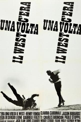 ONCE UPON A TIME IN THE WEST (aka C'ERA UNA VOLTA IL WEST), Italian poster art, 1968 Kunstdruck