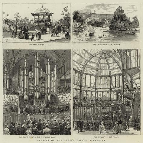 Opening of the Albert Palace, Battersea Giclée-Druck