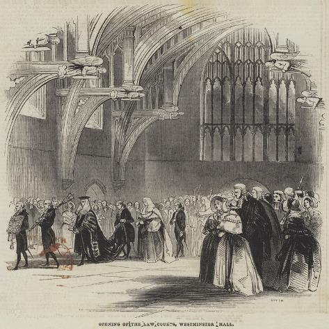Opening of the Law Courts, Westminster Hall Giclée-Druck