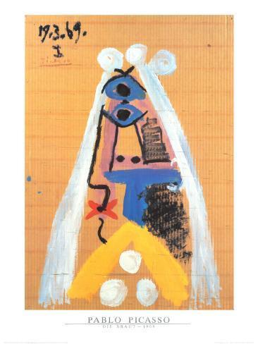 Braut, 1969 Kunstdruck