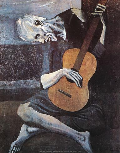 Der alte Gitarrenspieler, ca. 1903 Kunstdruck