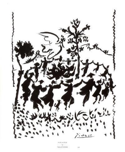 Es lebe der Frieden Poster von Pablo Picasso bei AllPostersde