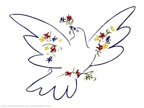 Friedenstaube Kunstdrucke von Pablo Picasso bei AllPostersde