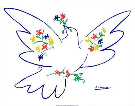 Friedenstaube Kunstdruck