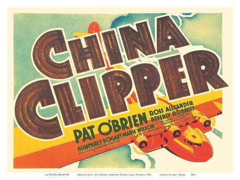 China Clipper - Starring Pat O?Brian, Humphrey Bogart, Marie Wilson Kunstdruck