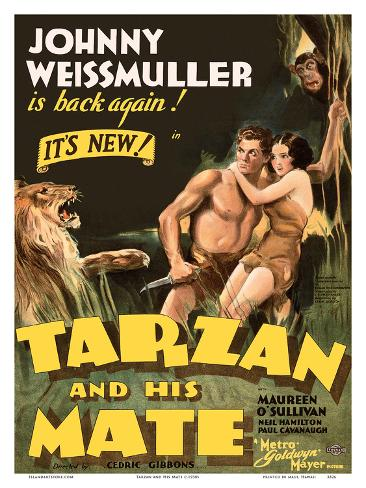 Tarzan and His Mate - Metro Goldwyn Mayer Kunstdruck