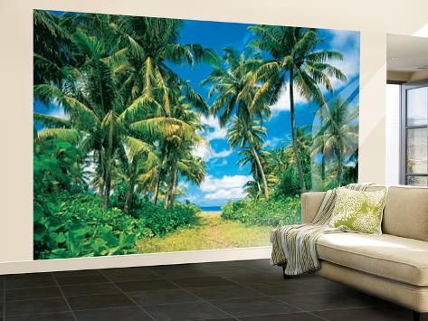 palmen strand insel karibik fototapete wandgem lde bei. Black Bedroom Furniture Sets. Home Design Ideas