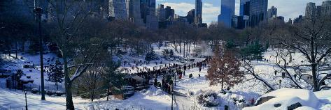 Panoramic View of Ice Skating Wollman Rink in Central Park Fotografie-Druck
