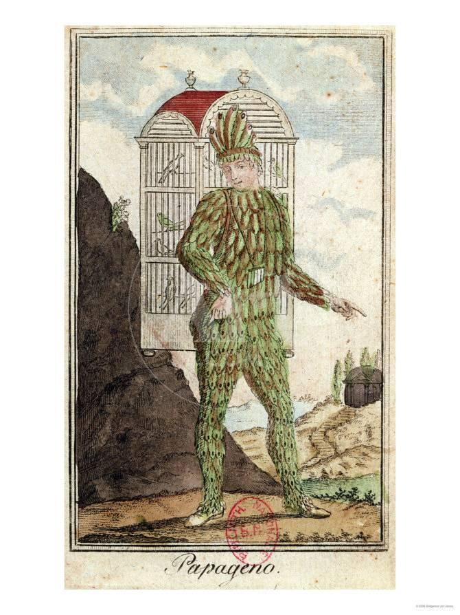 Papageno the Bird-Catcher, from \
