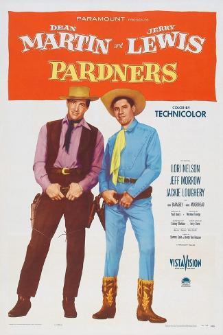 Pardners, Dean Martin, Jerry Lewis, 1956 Kunstdruck