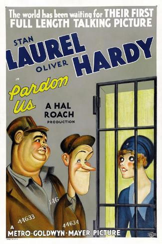 PARDON US, poster art, from left: Oliver Hardy, Stan Laurel [Laurel and Hardy], 1931 Kunstdruck