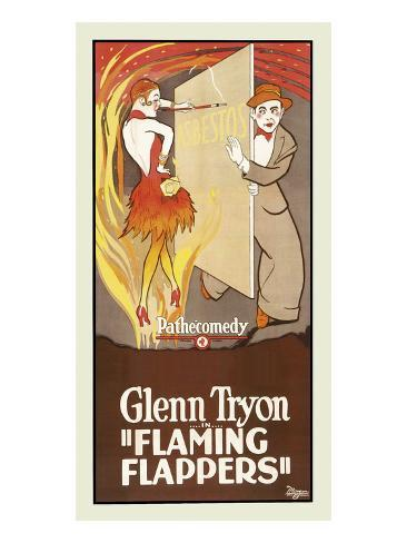 Flaming Flappers Kunstdruk