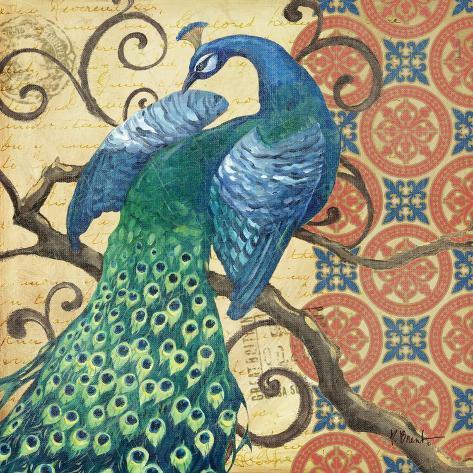 Peacock's Splendor II Giclée-Premiumdruck
