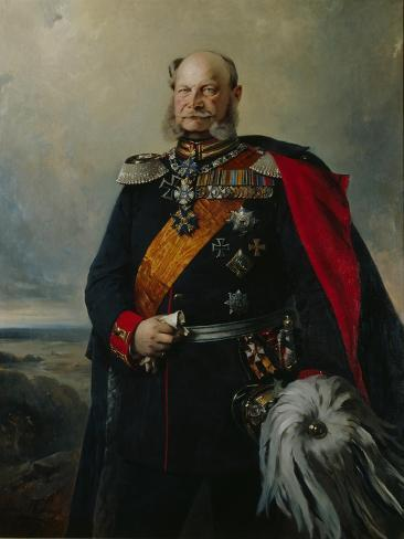 Kaiser Wilhelm I in the Uniform of the First Regiment of Foot Guards, 1879 Giclée-Druck