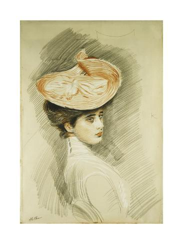 Portrait of a Lady, Thought to Be Madame Helleu Giclée-Druck