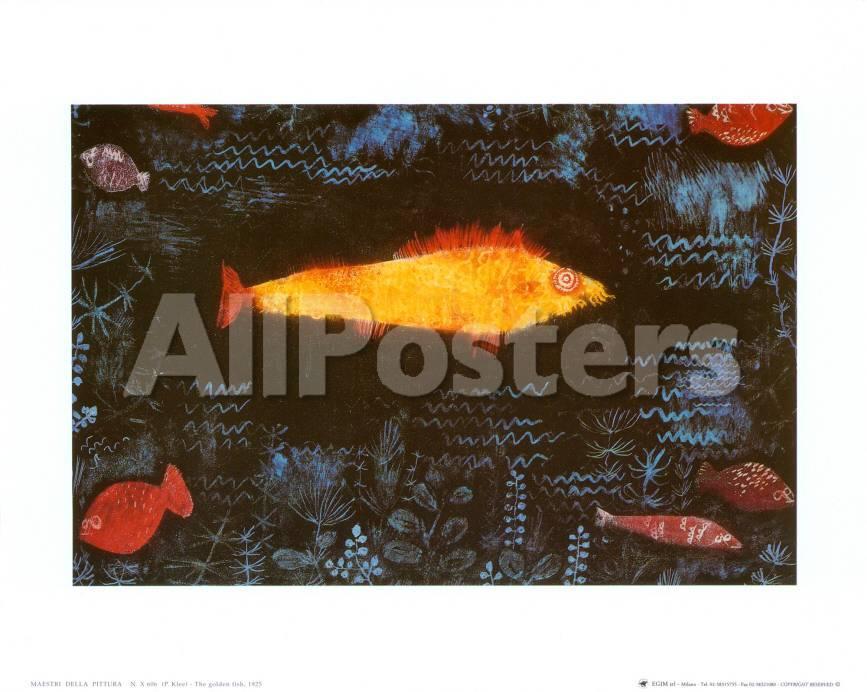 Der goldene Fisch Kunst von Paul Klee bei AllPosters.de