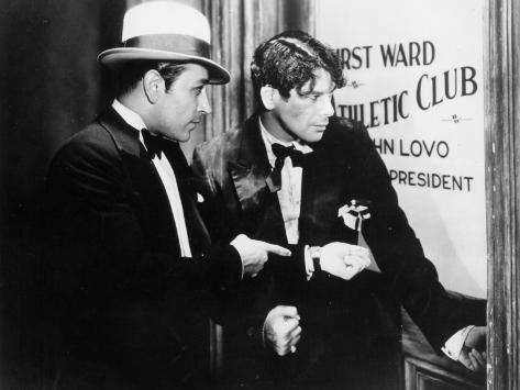Paul Muni and George Raft: Scarface, 1932 Fotografie-Druck