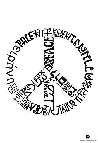 Peace Languages Text Poster Poster Bij Allposters