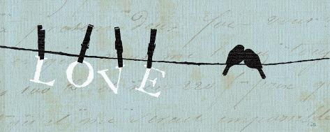 Birds on a Wire - Love Kunstdruck