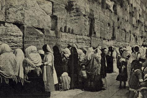 People at the Wailing Wall, Jerusalem Fotografie-Druck