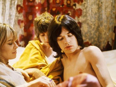 Performance, Anita Pallenberg, Michele Breton, Mick Jagger, 1970 Foto