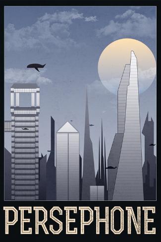 Persephone Retro Travel Poster Poster