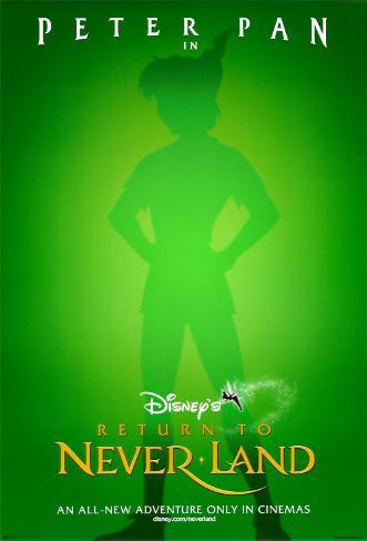 Peter Pan 2: Neue Abenteuer in Nimmerland (doppelseitig, mit engl. Text) Doppelseitiges Poster