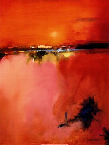 Orangefarbener Horizont Kunstdruck